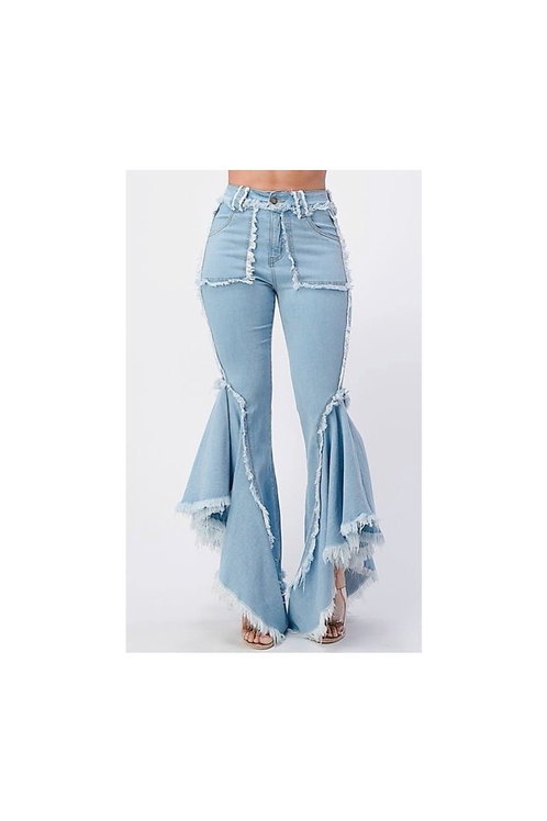 High Rise Ultra Bell Bottom Jeans