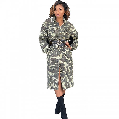 Camouflage Trench Jacket