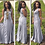 Thumbnail: Round Neck Slim Sleeveless Pleated Maxi Dress