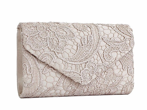Elegant Floral Lace Evening Envelope Clutch