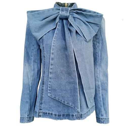 Denim Fashion Bow Top