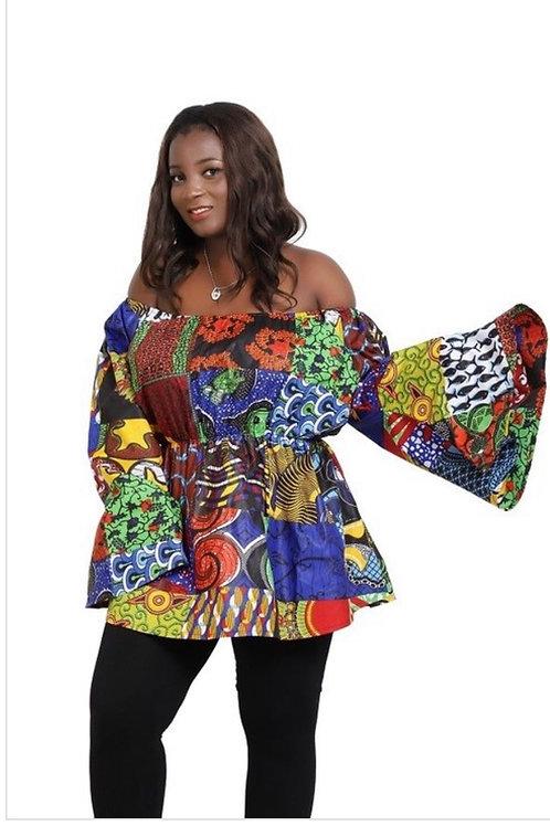 African Off Shoulder Top