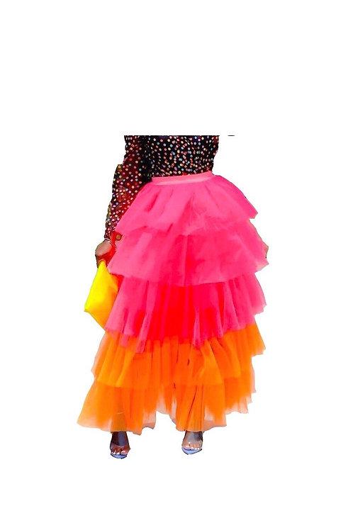 Multi Tier Tulle Maxi Skirt