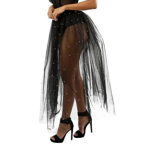 Pearl Mesh Tulle Skirt