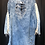 Thumbnail: Laced Up Distressed Denim Dress