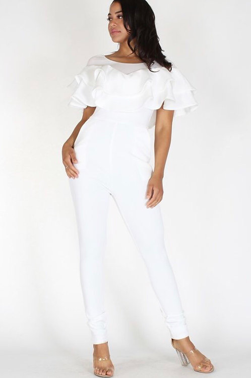 Ruffle Tiered Jumpsuit