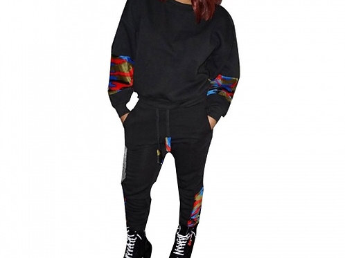 Colored Camouflage Jogger Set