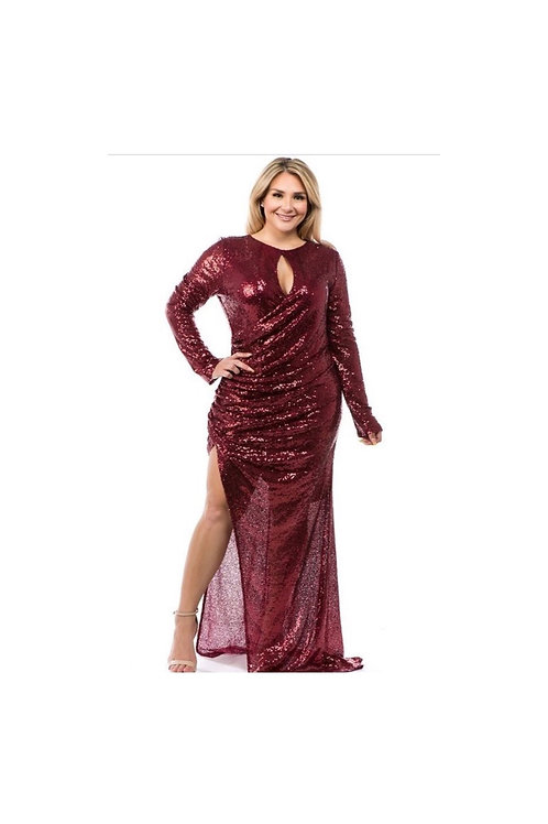 Sequins High Slit Dress
