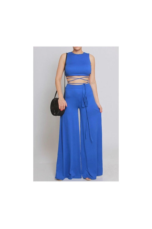Crop Top Wide Leg Pants Set