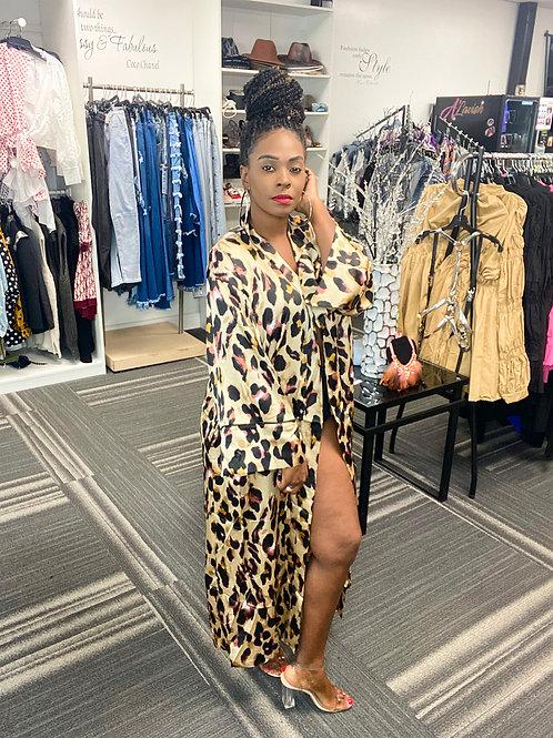Leopard Open Kimono