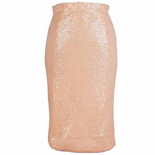 Sequins High Waisted Pencil Skirt