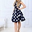 Thumbnail: Navy Polka Dot Sleevelss Dress