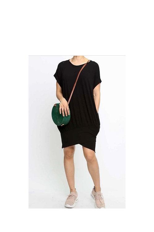 Solid T-shirt Mini Dress