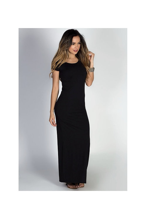Fitted body-con Tee Maxi Dress
