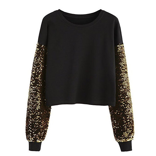 Sequins Sleeve Sweater