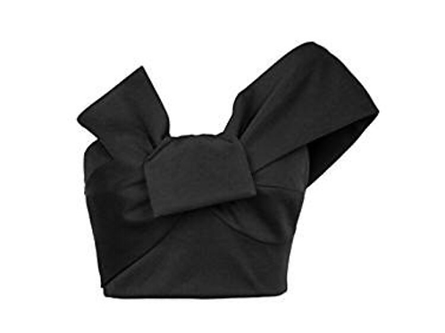 One Shoulder Bowknot Crop