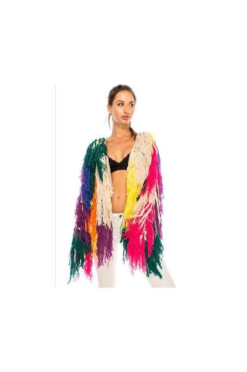Multi Color Shaggy Jacket