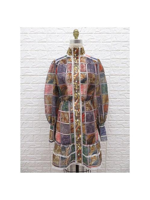 Patch Color Block Dress