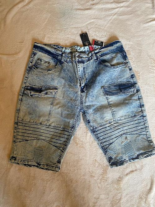 Dirty Denim Wash Shorts