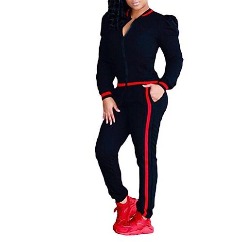 Puff Sleeve Stripe Pants Set