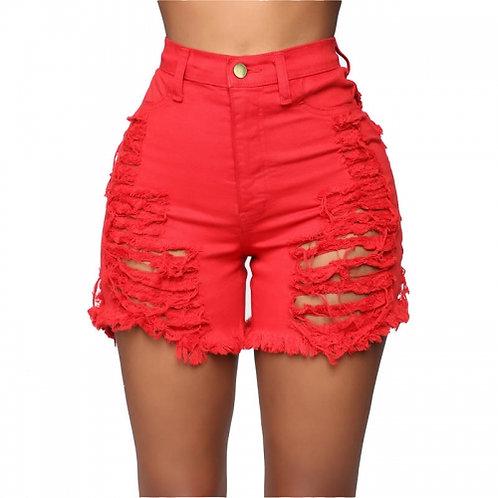 High Waist Ripped Shorts