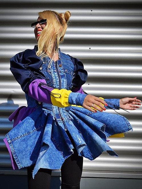 Hipster Denim Colorblock Jacket