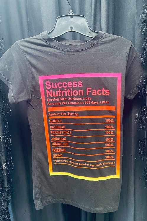 Success Nutrition Facts Tee
