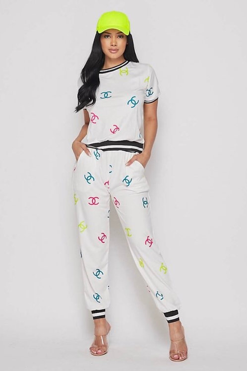 Chanel Inspired Pants Set