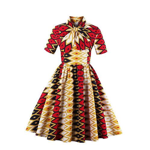 Printed Bowswing Dress