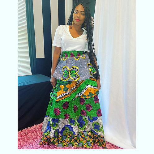 Ruffle Tier African Skirt