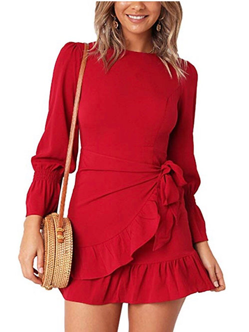 Ruffle Casual Mini Dress