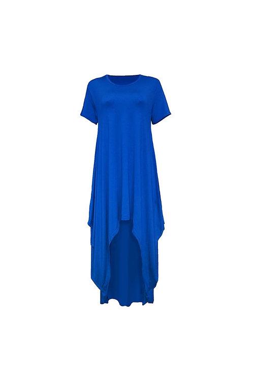 Casual Asymmetrical Hi Low Dress