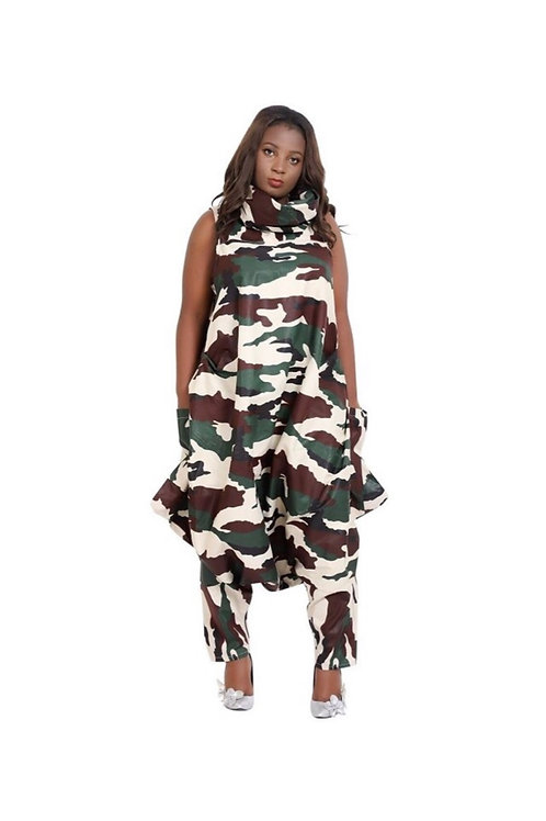 Camouflage Baggy Romper