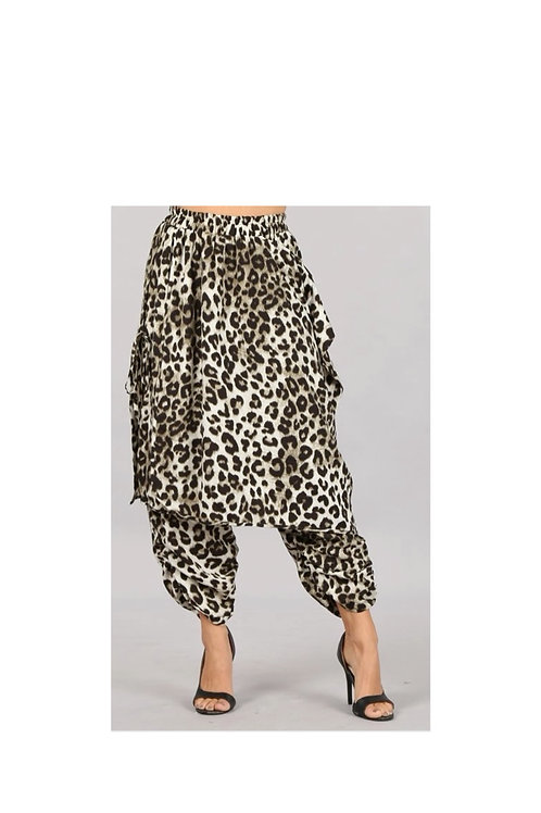 Leopard Skirt Pants