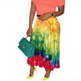 Pleated Graffiti Skirt