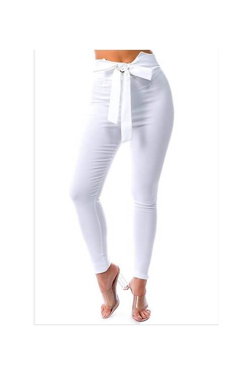 Bow Front Skinny Pants