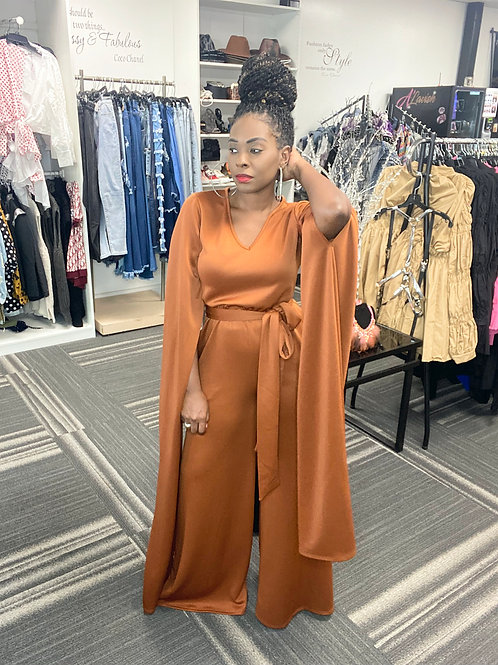 Long Wing Sleeve Jumpsuit