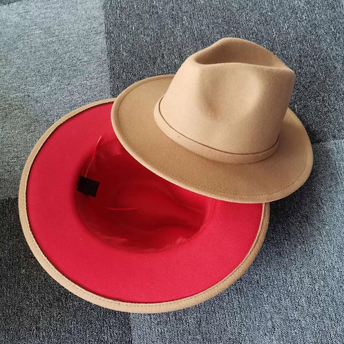 Colored Red Bottom Fedoras