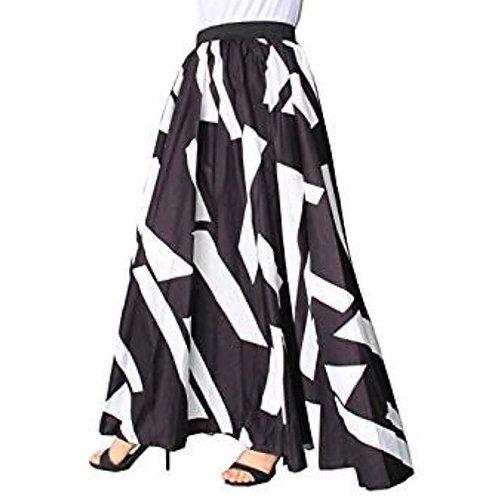 Chiffon Geometric Print Maxi Skirt