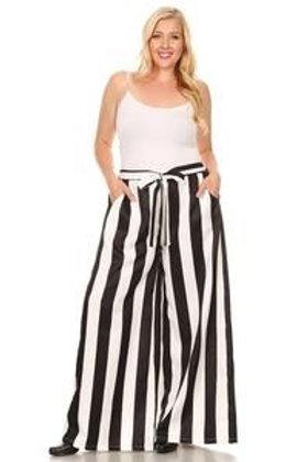 Wide Leg Stripe Pants