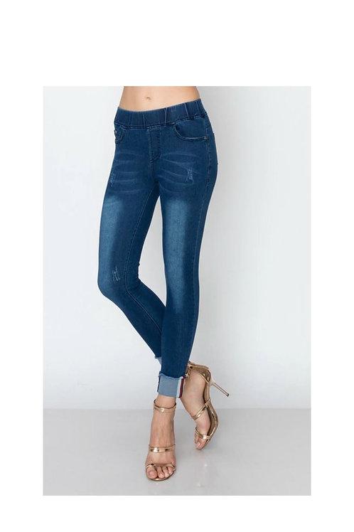 High Waist Elastic Band Jeans