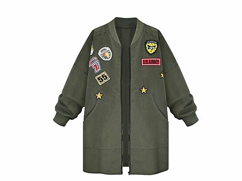 Retro Bomber Patch Jacket