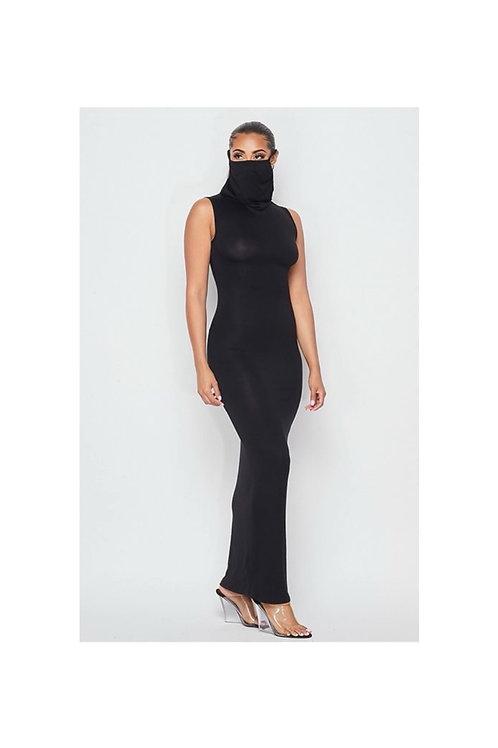 Sleeveless Mask Maxi Dress