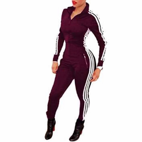Long Sleeve Track Jumpsuit