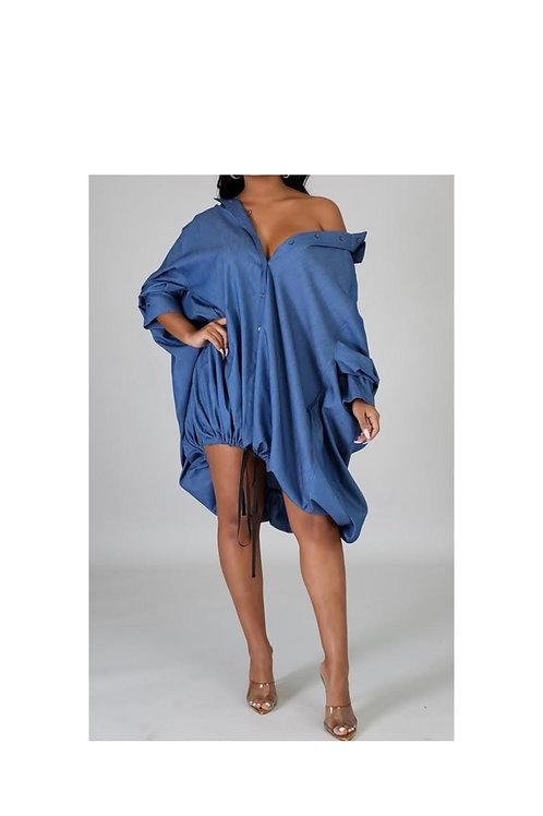 Drawstring Bottom Dress