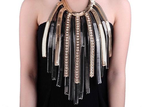 Chain Tassel Statement Necklace