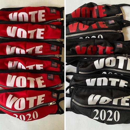 VOTE 2020 Zipper Face Mask