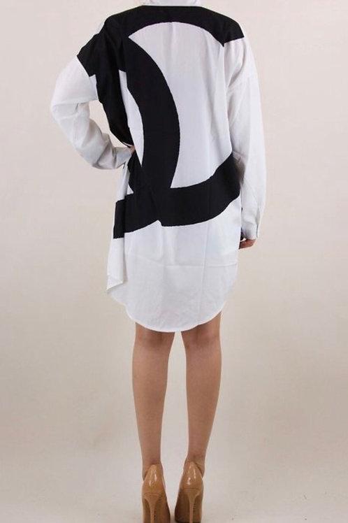 Chanel Inspired Shirt Dress