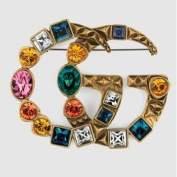 Gucci Colorful Gem Brooch