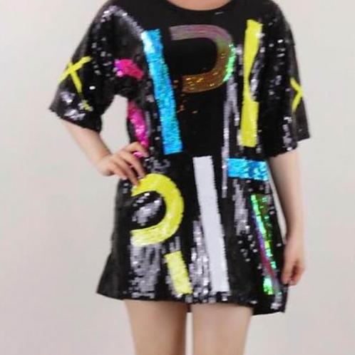 Sequins Oversized Dress
